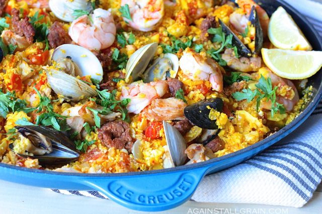 Mixed Seafood Paella - Against All Grain