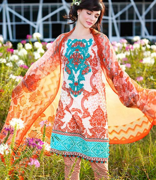 Gul Ahmed Embroidered Chiffon Collection C_349