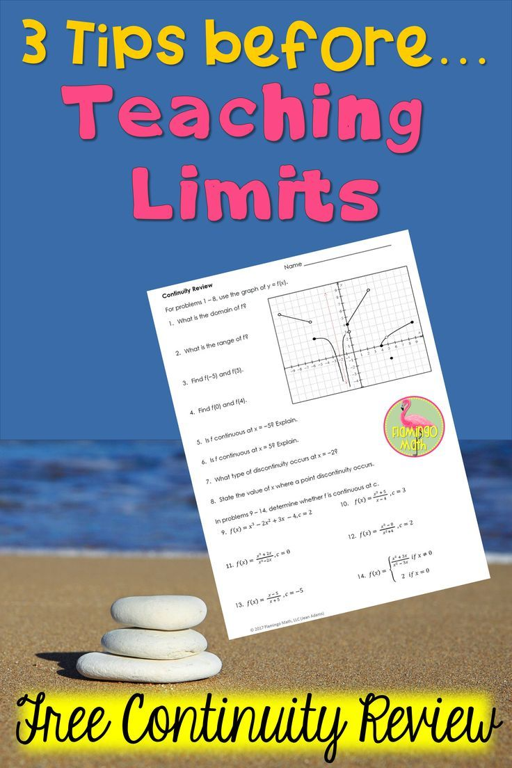 3 Tips Before Teaching Limits   PRECALCULUS   Limits