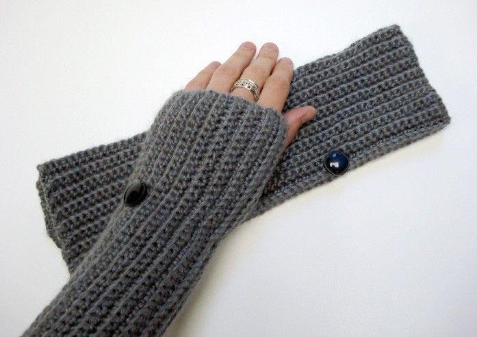 guantes tejidos sin dedos crochet - Buscar con Google