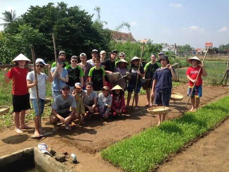 Backyard blitz? #Farming #VietnamSchoolTours #EcoTour #ServiceWork
