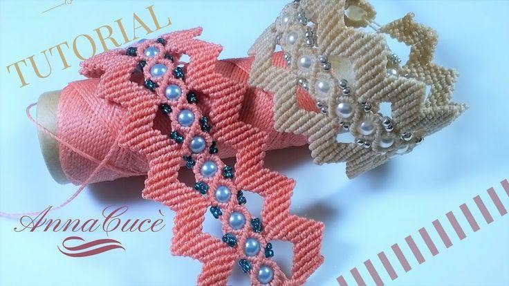 "Tutorial macrame  bracelet ""Zig zag ""/  Diy tutorial - YouTube"