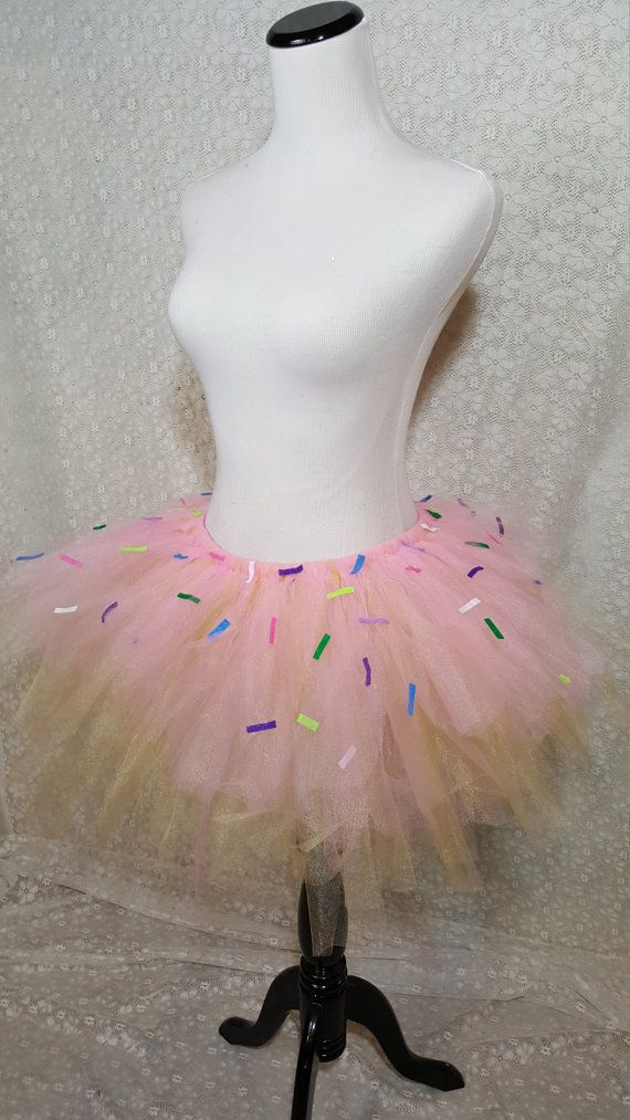 Adult Sprinkled Pink Donut Tutu Party Tutu by pearlsandtulle