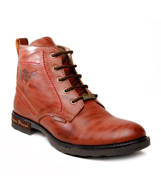 Bacca Bucci Stylish Tan Ankle Length Casual Shoes  SELLING PRICE Rs 1055 Visit Us :- http://goo.gl/YYe3ZS