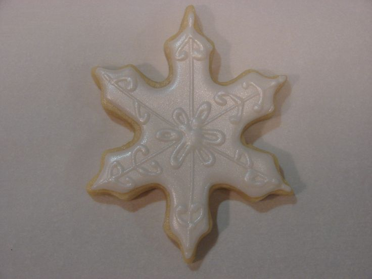 Winter - Snowflake with Wilton Color Mist Pearl.