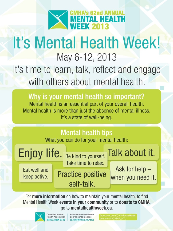 CMHA's 62nd Annual Mental Health Week 2013 #MHW