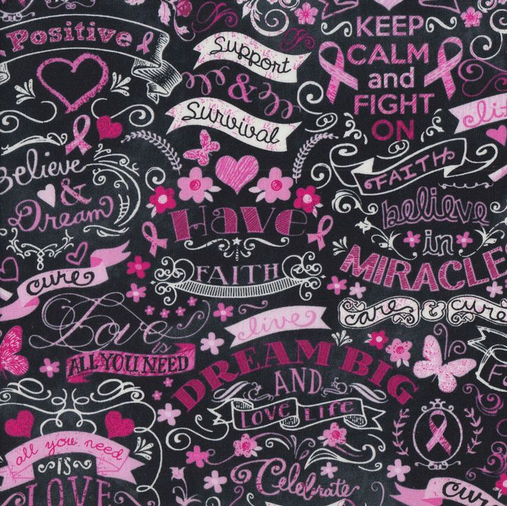 7 Best Breast Cancer Fabric Images On Pinterest Pink