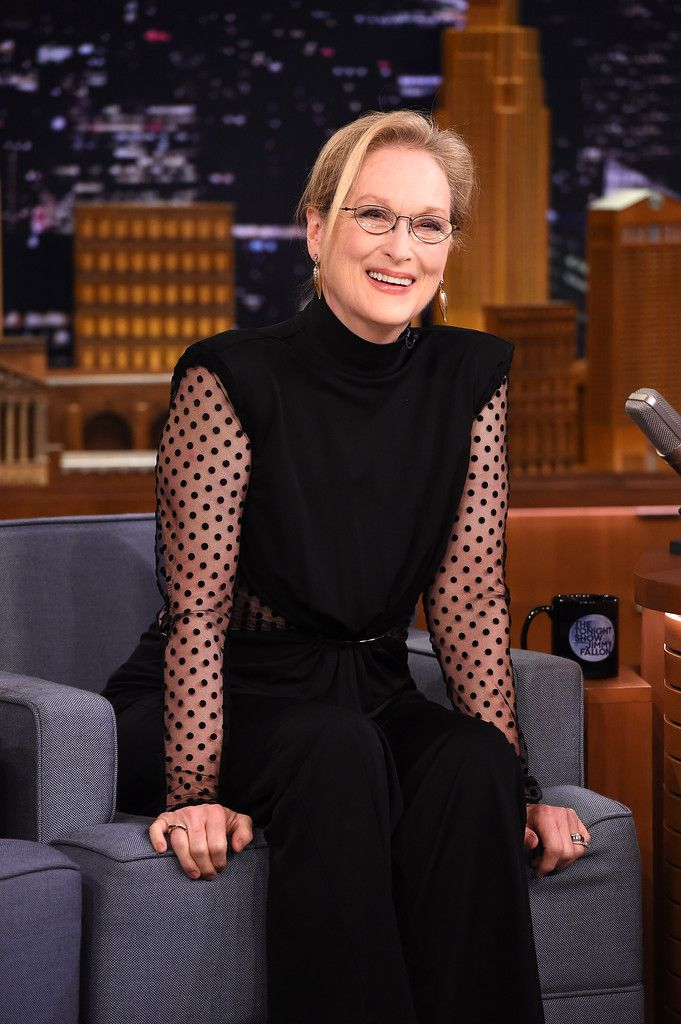"Meryl Streep Visits ""The Tonight Show Starring Jimmy Fallon"" at Rockefeller Center on August 3, 2015 in New York City."
