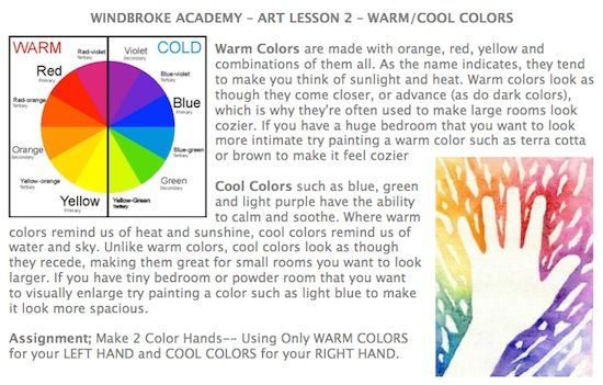Warme kalte farben grundschule for Raumgestaltung yin yang