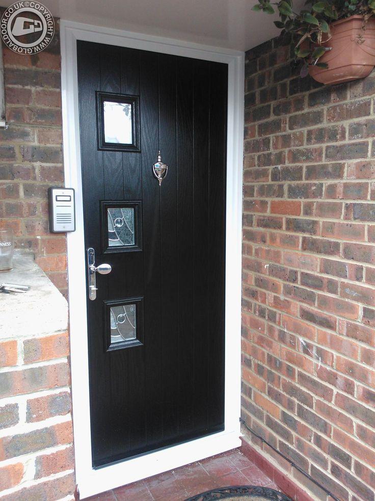 black-3-sqaure-global-composite-door & Best 25+ Black composite door ideas on Pinterest | Black composite ... Pezcame.Com