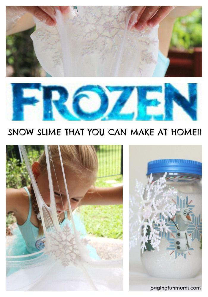 Frozen Snow Slime! What 'Frozen' fan wouldn't love this FUN sensory activity!