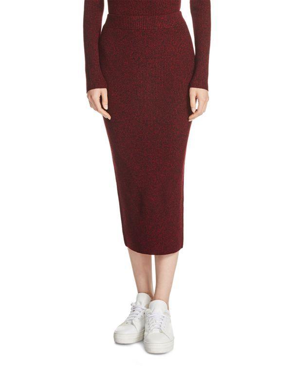 Maje Jax Knit Midi Skirt