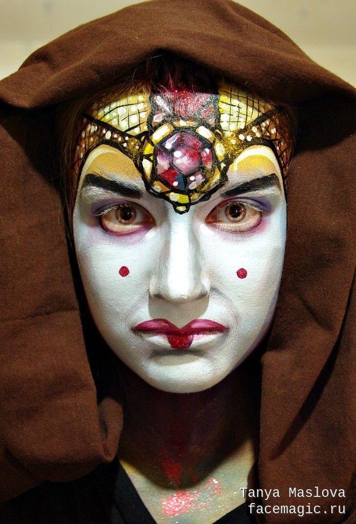 Королева Амидала (Звёздные войны). Аквагрим выполнен Таней Масловой.