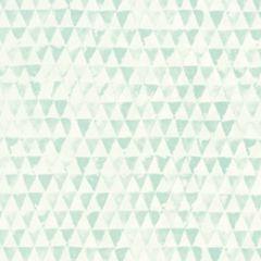 354082 Tout Petit behang mintgroene driehoekjes. Te vinden bij kwantum voor 17 euro per rol ook in het zwart wit!