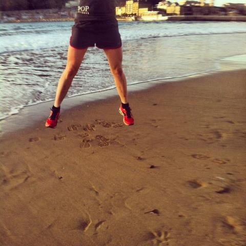 Another holiday run done in San Sebastian. I love running along the beach. POP Fitness