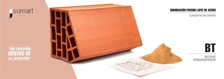 Bt - Bloque Termodisipador, producto desarrollado por el Grupo Sumart Diseño y Arquitectura, nominado al premio de diseño mas importante en Colombia. El Premio Lápiz de Acero 2015 en el Área Concepto de Diseño.  https://www.facebook.com/sumart.dis