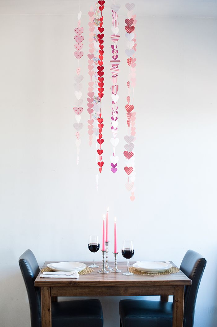 perfect last min Valentine's DIY...especially if you're staying in for dinner | Michelle Edgemont for HGTV