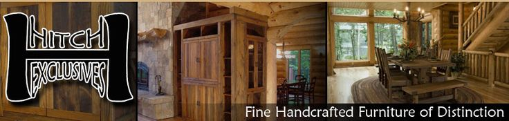 Rustic Furniture - Commercial Furniture - Timber Furniture: Handcrafted from Green Reclaimed Heart Pine and Northern White Cedar.