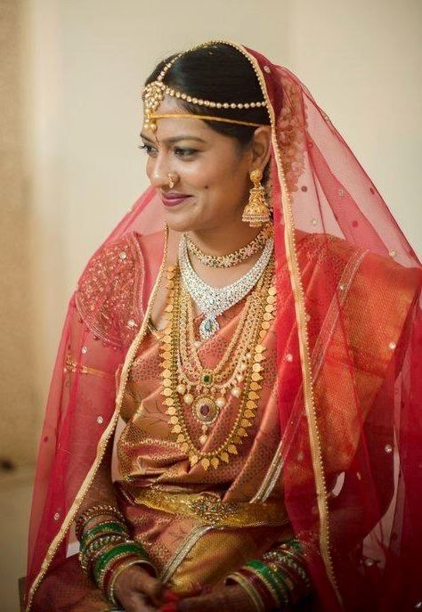 South Indian bride wearing bridal jewellery