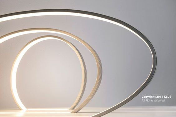 KLUS lighting concept of the bent GIZA profiles