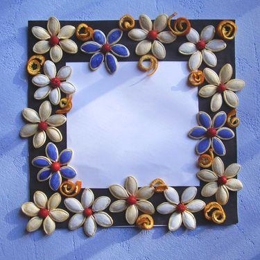 semi di zucca colorati --- Рамки для фото своими руками.