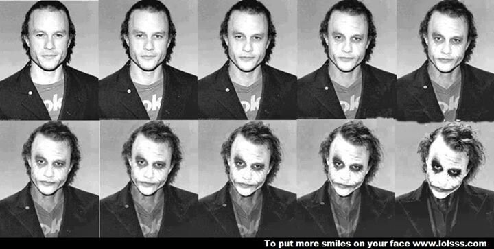 heath ledger joker makeup process