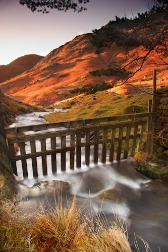 Water flowing from Blea Tarn on an autumn morning. By Chris Shepherd