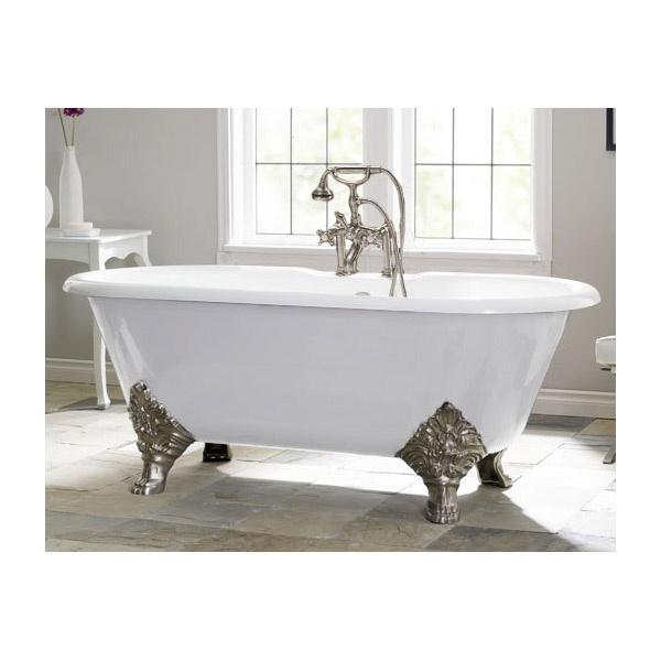 Bañera de hierro fundido.