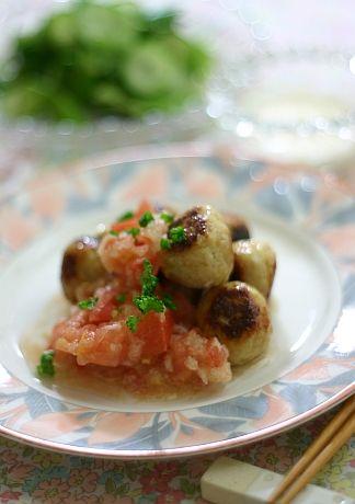鶏団子 フレッシュトマトソース | 美肌レシピ