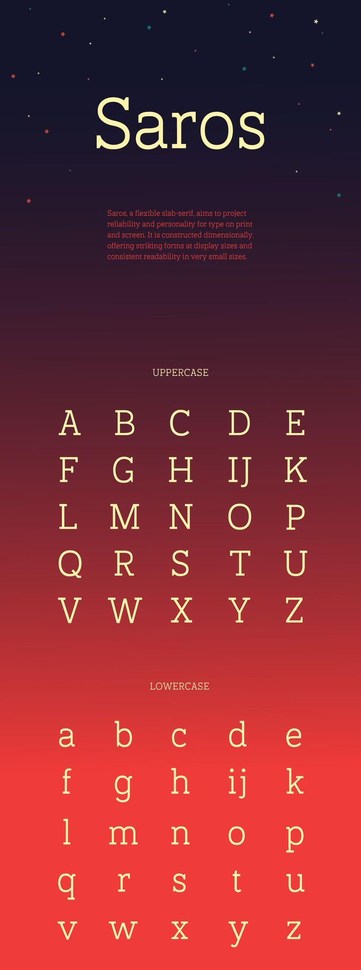Saros Slab Serif Free Font