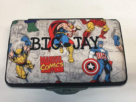 MARVEL PERSONALISED LOGO Pencil Case Bag Superheroes Hulk Avengers Any Name Gift