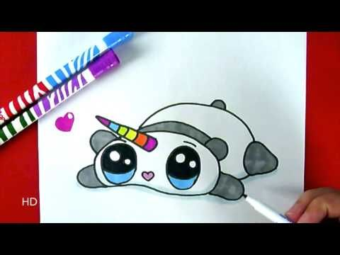 COMMENT DESSINER UNE BALEINE LICORNE KAWAII - DESSIN KAWAII ET FACILE - YouTube