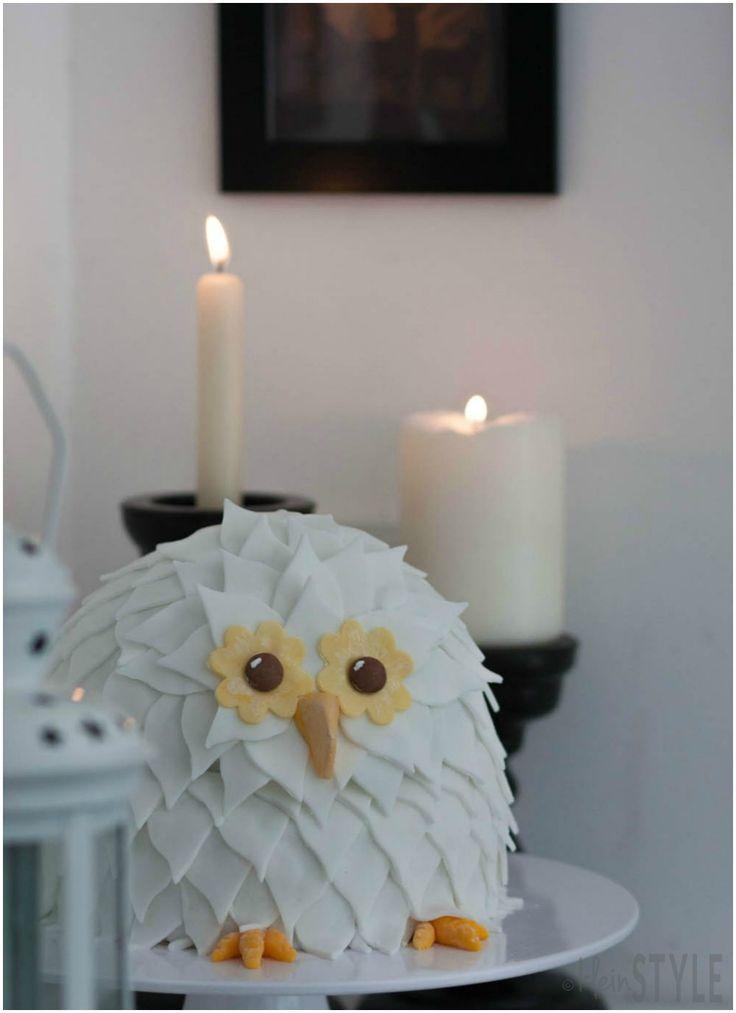 In der Welt von Harry Potter : Kindergeburtstag in Hogwarts   Owl Hedwig cake fpr kids birthday party  via http://kleinstyle.com