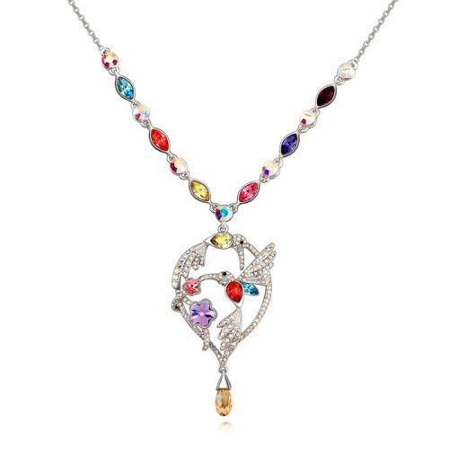 $34,5 Hummingbird Swarovski crystal necklace - Yohanna Jewelry Wholesale. BEST PRICE: Directly in the jewelry factory. VAT-free shopping: Available, partners based in the European Union, only applies to EU tax identification number (UID). Exclusive design SWAROVSKI crystals and AAA Zircon crystal jewelry and men's stainless steel jewelry and high-quality stainless steel jewelry for couples sell in bulk to resellers! Please contact us.