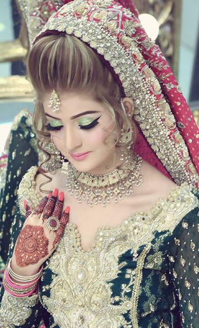 Kashees drop dead gorgeous bridal makeover and hairstyling http://www.fashioncluba.com/2017/02/kashees-new-look-makeup-and-hair-styles-for-bridal.html