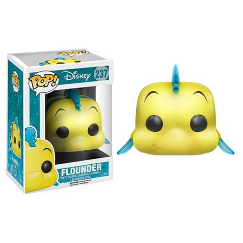 Little Mermaid Flounder Pop! Vinyl Figure - Funko - Little Mermaid - Pop! Vinyl Figures at Entertainment Earth