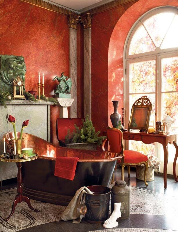 Ретро стиль ванной комнаты в деталях - Дизайн интерьеров | Идеи вашего дома | Lodgers