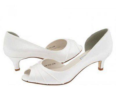 sapato de noiva baixo branco