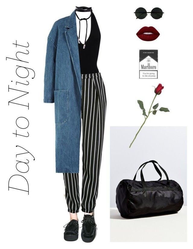 """""""Untitled #26"""" by inteovertgirl ❤ liked on Polyvore featuring T.U.K., American Apparel, Glamorous, Sandy Liang, Urban Outfitters, Lime Crime, DayToNight and romper"""