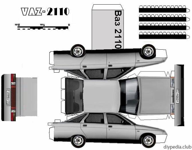Paper Cars How To Make Model Templates Origami Race Auto Diypedia Paper Car Paper Model Car Mitsubishi Evolution