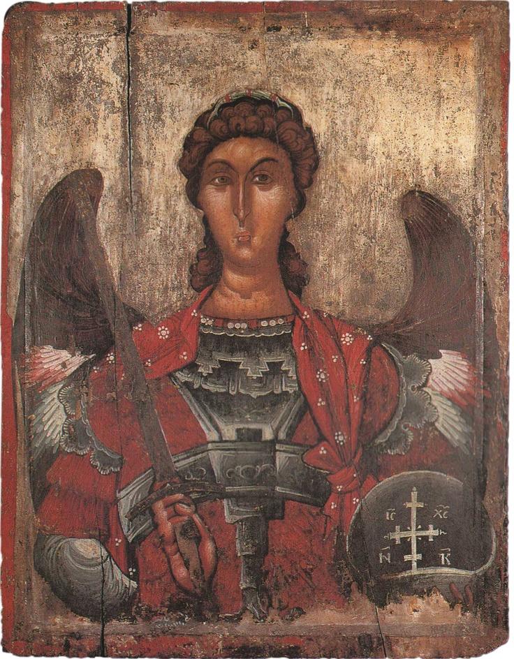 Arcangelo Michele, XIII - XIV sec., Chiesa della Madre di Dio, Mborje (Coriza). Museo Nazionale di Arte Medievale di Korça