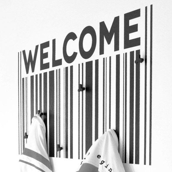Knagerække wallsticker - Welcome