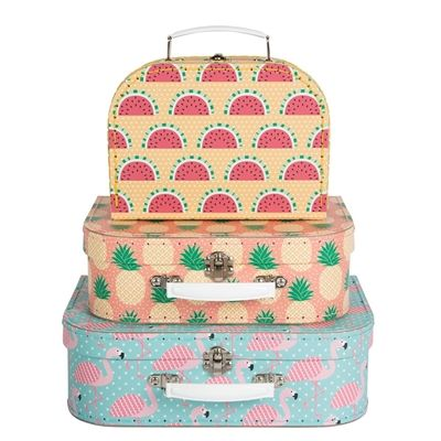 Watermelon, Pineapple and Flamingo, all making sure your storage needs are bang on trend! Only £23 from SayItBaby
