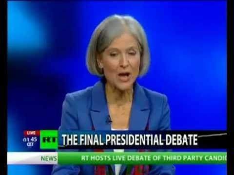 Jill Stein & Gary Johnson 2012 Presidential Debate https://www.youtube.com/watch?v=h4HJBE62IzI