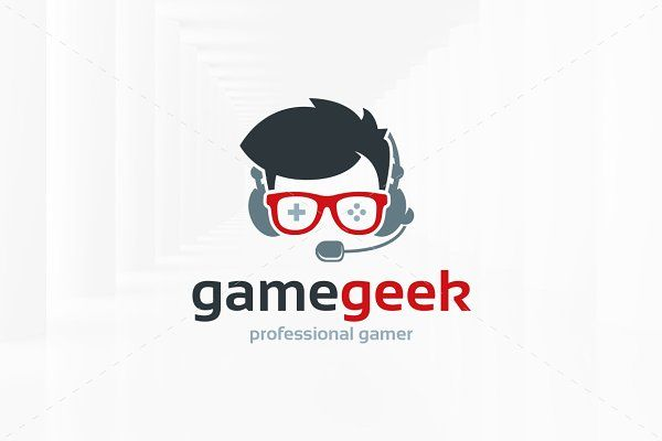 Game Geek Logo Template by LiveAtTheBBQ on @creativemarket