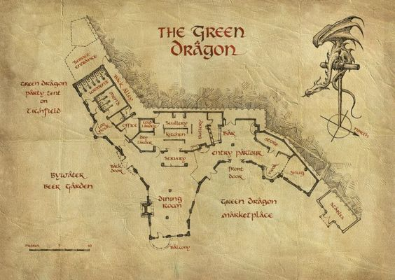 Pin by Zel Kraupaul on Fantasy Floor Plans2 | The Hobbit ...