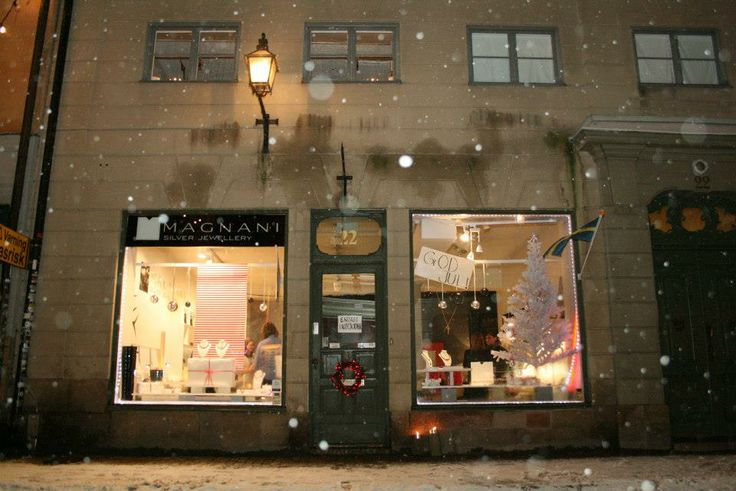 Magnani storefront in Old Town, Stockholm