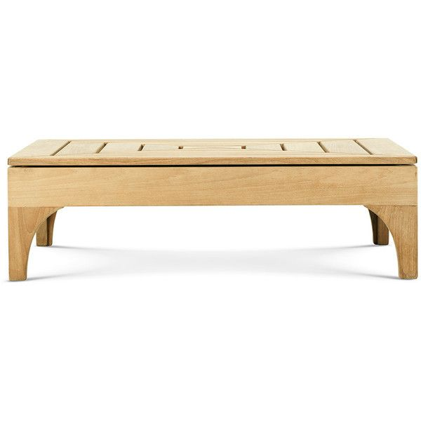 Ethimo Village Rectangular Coffee Table ($1,125) ❤ liked on Polyvore featuring home, outdoors, patio furniture, outdoor tables, brown, outdoor coffee table, rectangle coffee table, outdoor patio table, waterproof patio furniture and brown coffee table