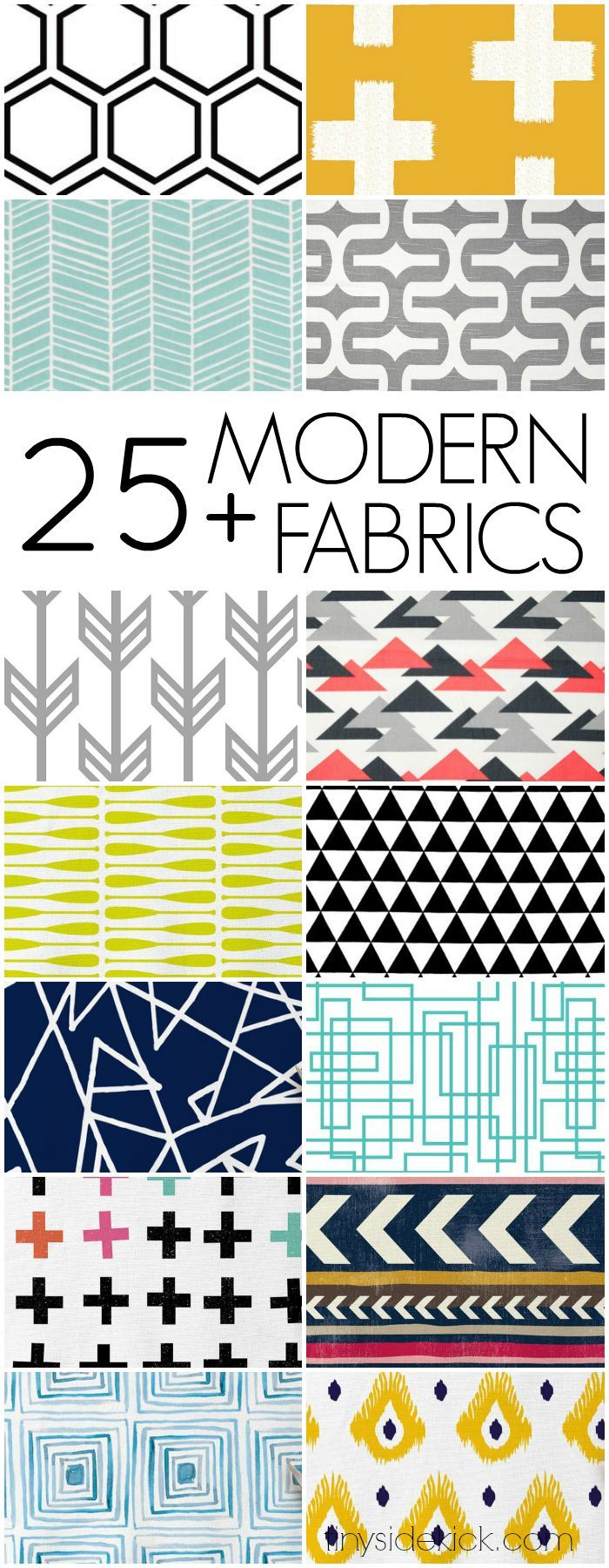 25+ Modern Home Decor Fabrics to easily update your space!