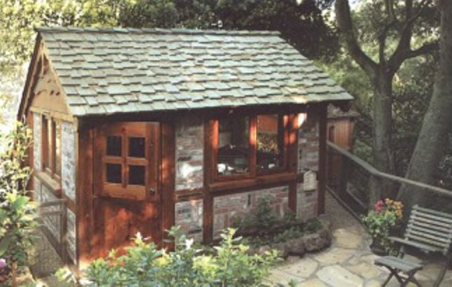 93 best backyard buildings images on pinterest backyard for Build your own backyard office